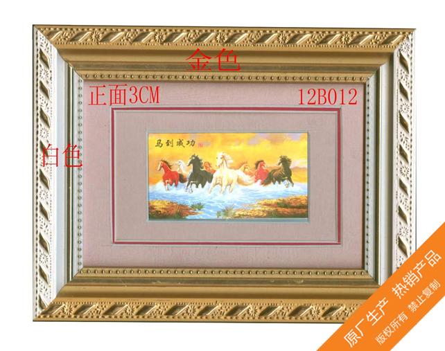 广州浅色花边花纹边框广告招牌制作